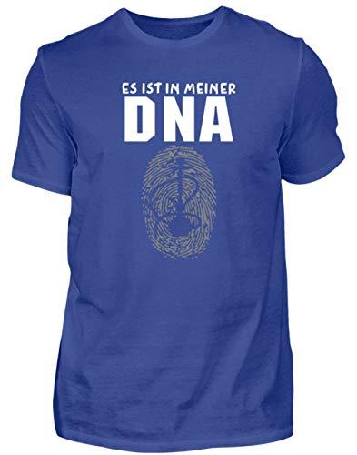 Es Ist In Meiner DNA. - Shisha, Schischa, Rauchen, Wasserpfeife, Pfeifen, Tabakrauchen - Herren Shirt -S-Royalblau