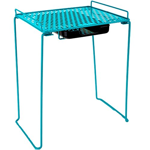 Five Star Extra Tall Locker Shelf and Drawer Holds 100 lbs 14 in Clearance Fits 12 in Width Lockers Locker Accessories Teal 73363