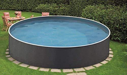 Stahlwandbecken Azuro Rattan ø 3,60m x 1,10m Einzelbecken Folie Lagoon 0,4mm Einzelbecken Pool Rundpool ohne Zubehör / 360 x 110 cm Stahlwandpool