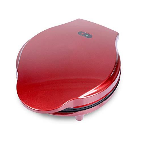 Professionele wafelijzer non-stick tosti-ijzer cake oven geschikt voor onafhankelijke wafels San Minny en ander uitje ontbijt lunch snack rood,Red