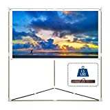Cloud Mountain Portable Projector Screen with...