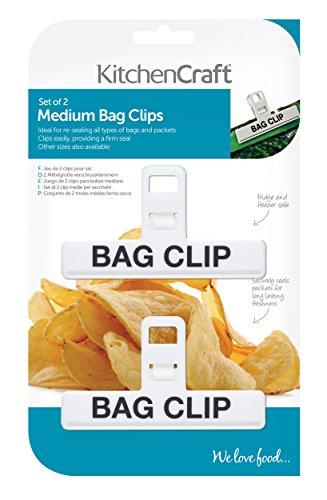 Kitchen Craft - Juego pinzas bolsas tamaño mediano