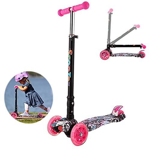 tquuquu Monopattini per Bambini, Scooter En Lega Di Alluminio A tre Ruote, Skateboard Regolabili En Altezza Giocattoli per Sport All'aria Aperta I Migliori Regali per Ragazzi E Ragazze