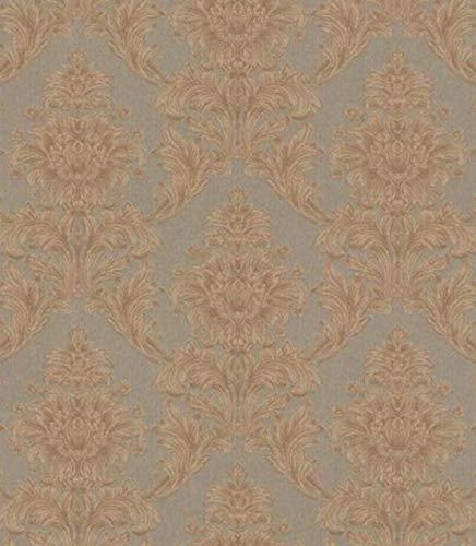 Casa Padrino Barock Textiltapete Braun/Taupe 10,05 x 0,53 m - Tapete im Barockstil