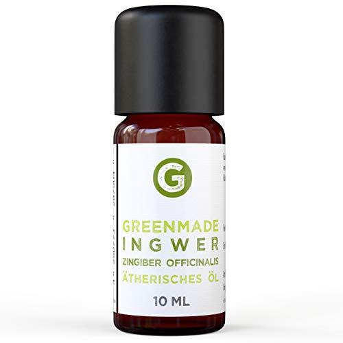 Ingwer Öl - 100{3e1811e4fd93dc7d76e2a9ffee33b6b00c94d67d6afc28108dfa0670c4274546} naturreines, ätherisches Öl (10ml) von greenstyle