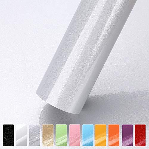 Selbstklebende Dekorfolie Fotofolie Wandaufkleber Wandsticker (Grau, 61 * 500cm) aus PVC wasserfest Folie Tapete für Möbel Küche Tür & Deko