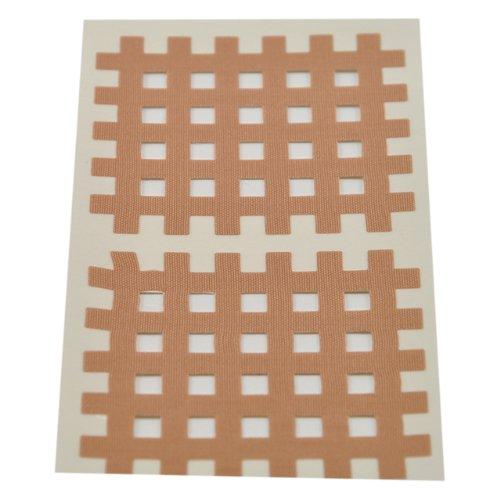 Ks Kinesiologie Gittertape 5,2 cm x 4,4 cm 20 Bögen in Beige, Cross Patches, Cross Tape