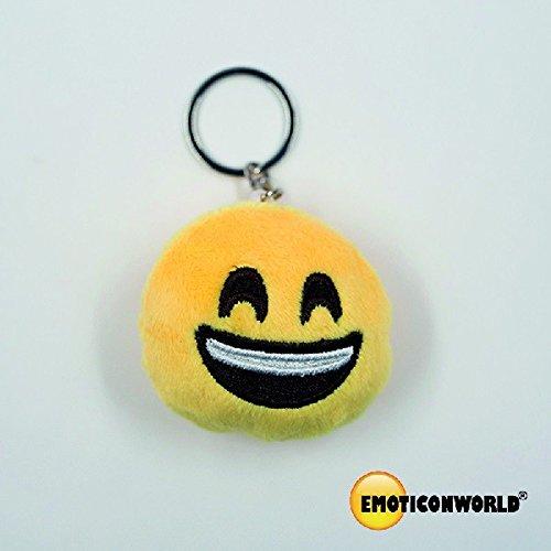 Emoji-sleutelhanger met 5,5 cm lange ketting.