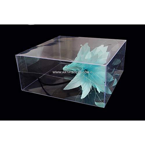 Artipistilos® Caja Acetato Cuadrada 23 X 23 X 10 Cm - Transparente - Cajas De PVC Transparente