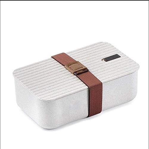 XuuuuLian Contenedores de la Caja de Almuerzo, Chaggy Caja de Bento japonés, Horno de microondas y refrigerador refrigerado, Compartimiento Fiambrera, Sushi Box Caja de Almuerzo for los Estudiantes y