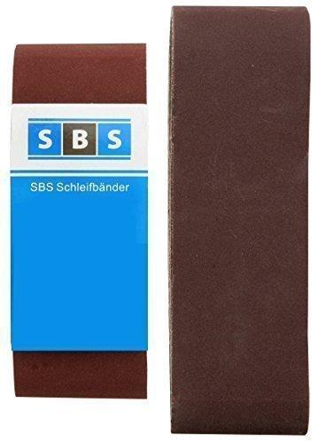 SBS Schleifbänder | 75 x 533mm | Korn 60 | 10 Stück | Bandschleifer | für Holz und Metall