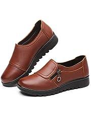 Mode mjukt läder runt huvud kvinnor casual platta platta platta skor körning båtskor damer komfort arbete kontorsskor
