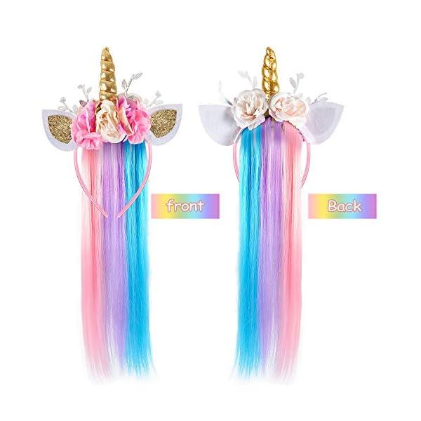 Lorfancy Unicorn Headband for Girls Unicorn Costume Birthday Halloween Party Unicorn Party Supplies Favors 4