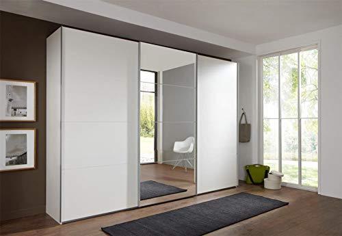 Wimex Kleiderschrank/ Schwebetürenschrank Ernie, 3 Türen, 4 Spiegelflächen, (B/H/T) 270 x 210 x 65 cm, Weiß
