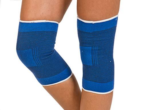 Kniestütze | Orthese knie | Knieverband | Verletzungen und Knieschmerzen | Sport | Arbeit | unisex | Universelle Größe | Blau | zwei Stück | rechtes und linkes Knie