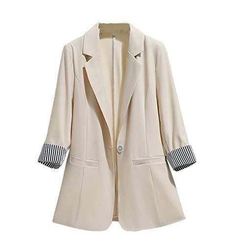 Traje de las mujeres chaqueta primavera verano slim drapeado tres cuartos mangas...