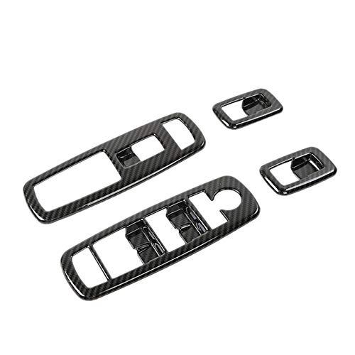 LIZCX YAOQIHAI Botón del Interruptor de la Ventana del automóvil Frame Fast Fit para 2011-2020 Jeep Grand Cherokee Journey Durango Nuevo y ABS (Color Name : Carbon Fiber Black)