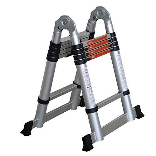 BLWX LY-Step kruk Extension Ladder - Telescopische Ladder Opvouwbare Trappen Dikke Aluminium Multifunctionele Handige Engineering Ladder Ladder - Draagvermogen 150kg - 4 maten