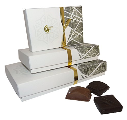 BALLOTIN DE LUXE quatro 100G (environ 13 chocolats) Chocolat de noel artisanal - CHOCOLAT ARTISANAL - COFFRET CADEAU CHOCOLAT