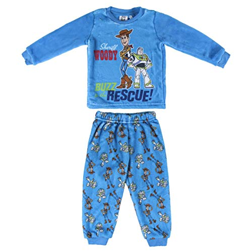 Artesania Cerda Pijama Largo Coral Toy Story Conjuntos, Azul (Azul C37), 2 Años para Niños