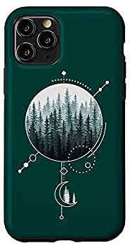 iPhone 11 Pro Forest Pine Tree Modern Line Geometric Nature Art Case