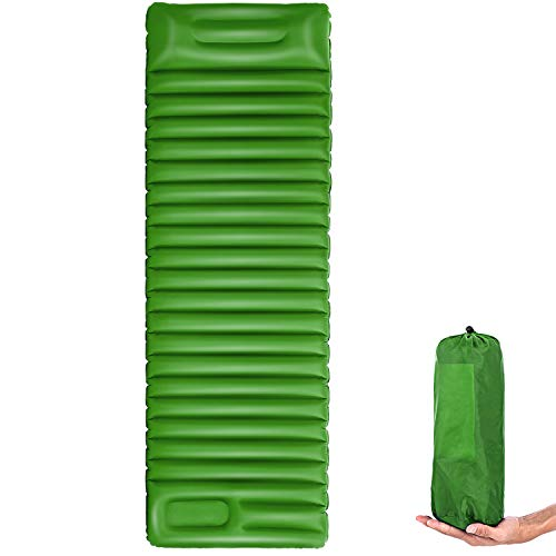 AgoHike Ultralight Inflatable Sleeping Mat Camping Hiking Travling Outdoor Acti vities, Green