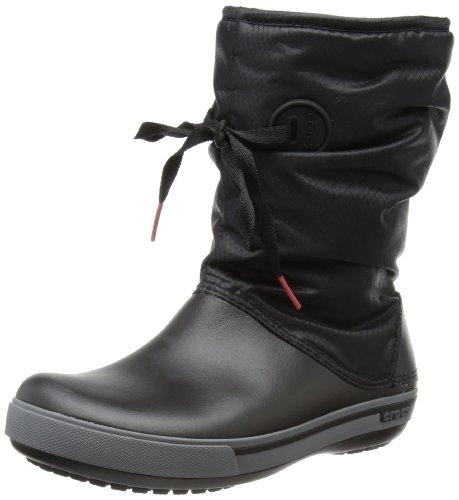 Hot Sale crocs Women's 14545 Crocband II.5 Boot,Black/Charcoal,6 M US