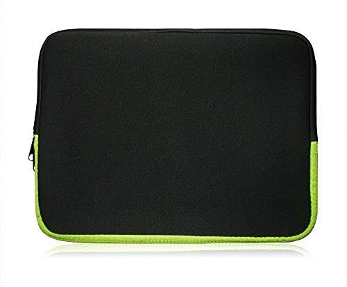 Sweet Tech Schwarz/Grün Neopren Hülle Tasche Sleeve Hülle Cover geeignet für Fujitsu LifeBook E734 Notebook 13.3 Zoll (13-14 Zoll Laptop/Notebook)