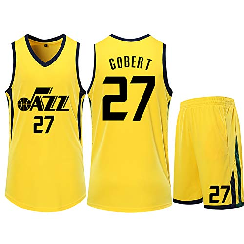 Utah Jazz 27 Rudy Gobert mannen trui, trainingspak, Kids Basketball Jersey, Sweatshirt Shorts Set