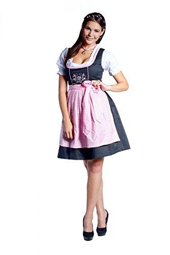 donnerlittchen! Mini-Dirndl Frida Edelweiss - schwarz-rosa, Größe:32