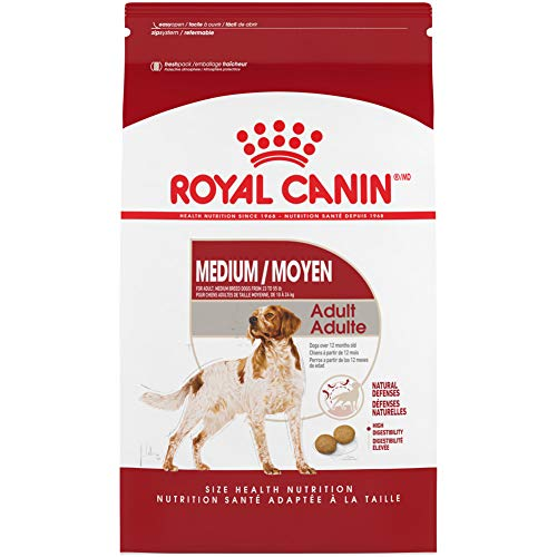 Royal Canin Medium Breed Adult Dry Dog Food, 30...