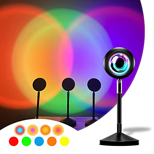 Sunset Lamp Projection Lamp 16-Colors RGB All in One Sun Light - 180 Degree Rotation Sun Set Projection Lamp for Photography, Home Decor, Room Decor and Bedroom Decor with Remote Control
