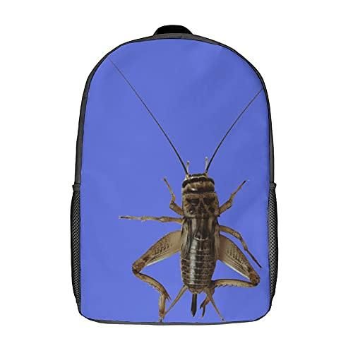 Rucksack, wasserdicht, leicht, elektronisch, für Computer, IT Notebook, Computer, Rucksack, Tier, Insekten, Cricket, Heuschrecke, Schwarz, 43 cm