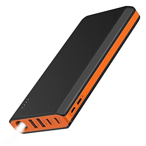 EasyAcc 20000mAh Power Bank (4A Dual-Input, 4.8A Smart Output) External Battery Pack...