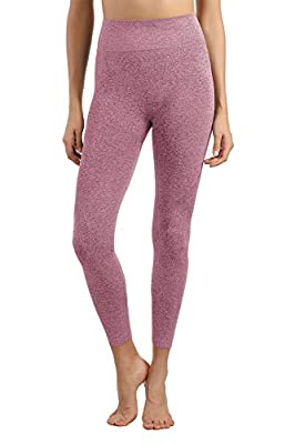 +MD Women's High Waisted Seamless Long Pants Thermal Underwear Bottoms Base Layer Leggings Fuchsia XL by +MD