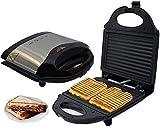WSJTT toastie Maker. Macchina per Waffle per Uova Antiaderente elettrica in Acciaio Inossidabile con Doppia Macchina per Waffle Commerciale Macchina per cialde per tostapane per casa