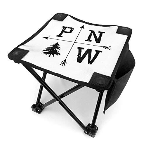 End Nazi Pacific North West Taburete portátil para Acampar Sillas Plegables Sillas Plegables para E