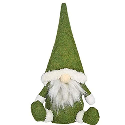 Navidad GNOME Enanos muñeca de la Felpa de Santa sin Rostro Adornos de Casas por Vacaciones Chimenea Decoración Verde