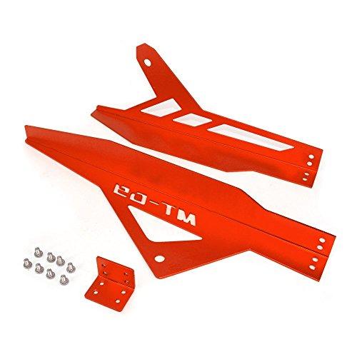 JFG RACING en Aluminium CNC de chaîne Coque Protection Shield pour Yahama Mt09 Fz09 2013–2016 Rouge