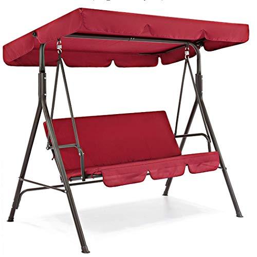 Copertura impermeabile di ricambio della tenda dell'oscillazione del baldacchino dell'oscillazione, copertura dell'oscillazione dell'ombrellone per la piscina del giardino senza sedile (rosso)