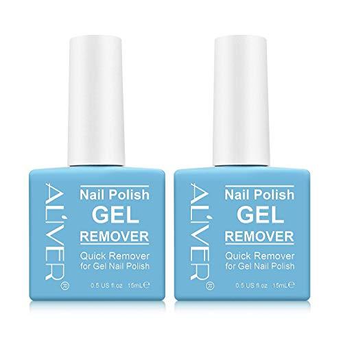 Magischer Nagellackentferner,2 Pack,Gel-nagellack in 2-3 Minuten Entfernen, Einfach Auf Shellec Anzuwenden, Uv-lack, Nicht Verletzte Nägel, 2er-pack, Blau