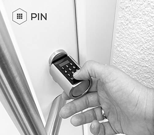 NENOKI Smartlock - elektronischer Schließzylinder mit PIN-Code, RFID- & APP-Steuerung (elektronisches Türschloss), 40/30mm (aussen/innen) - 2