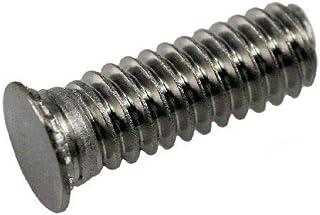 Steel Zinc QTY-50 Unicorp EFH-632-6 Round Captive Stud Flush Threaded 6-32 THD x .375 lg