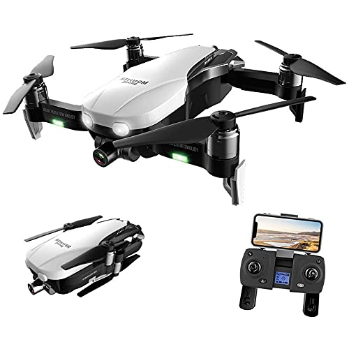 BD.Y Drone,Foldable GPS Drone with 4K UHD Camera for Adults, Quadcopter with Brushless Motor, Optical Flow Positioning, 27 Minutes Flight Time