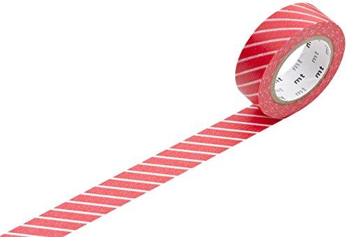 mt Stripe Washi Masking Tape Roll - Red