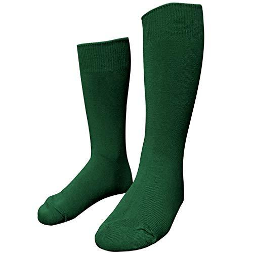 Oceano AGD-Niños Calcetines De Tubo De Doble Aguja para Bebés Lindos Calcetines para Estudiantes Lindos para Niñas,Calcetines de 2 a 12 años (verde, 35-38)