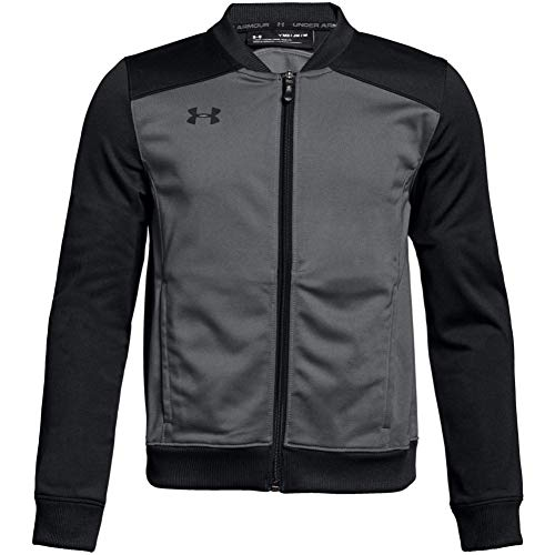 Under Armour Boys' Challenger II Track Jacket , Graphite (040)/Black , Youth X-Small