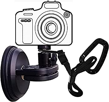 NUNET Suction Cup Camera Mount for Heavy Duty DSLR/NuCam WR/Gopro Strong 5  Diameter Suction Base Car Sucker Mount Glass Mounting Kits Tools for Boat/Windshield/Window