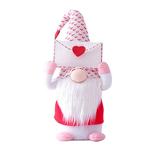 Selma. Handmade 2021 Envelope and Love Swedish Santa Gnome Plush Doll Holiday Figurines Toy doll Ornaments for Girlfriend Valentine's