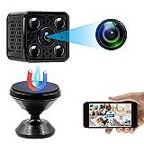 UYIKOO Cámara Espía WiFi, Mini Cámara Cachee 1080P HD, Cámara de Video Vigilancia Inalámbrica Detección de Movimiento Visión Nocturna Detección de Movimiento Gran Angular 140